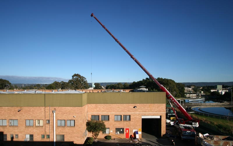 Visy Recycling - Roof Construction
