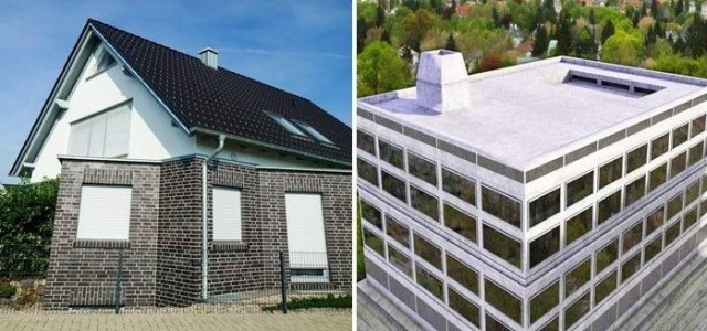 Peaked vs Flat Roof