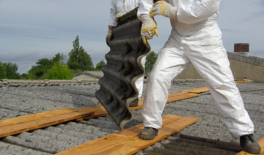 Asbestos Roof Removal including Asbestos Wall Cladding.